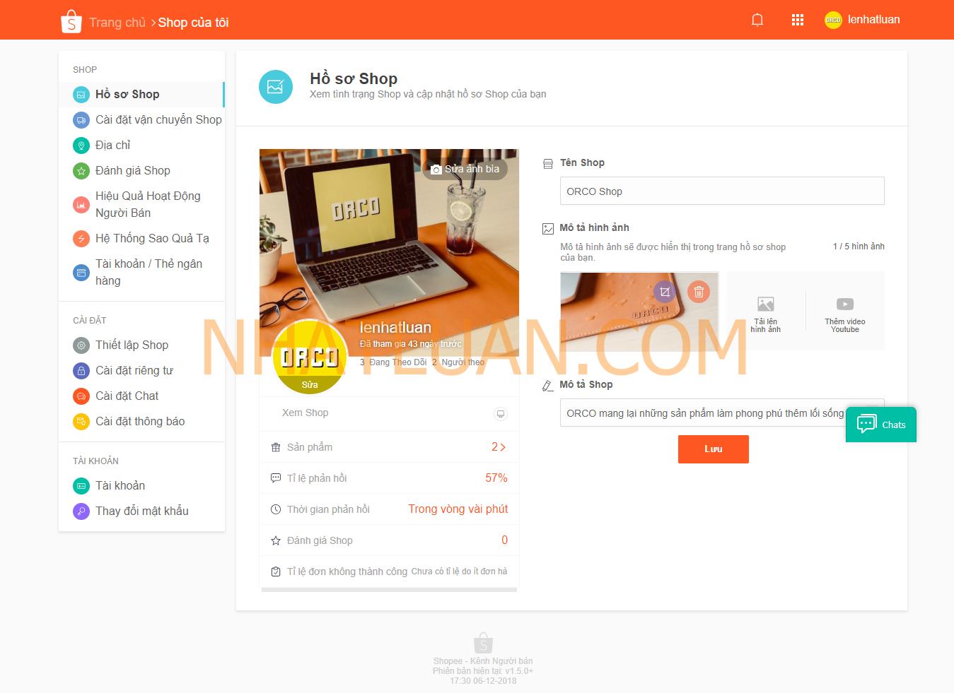 đăng ký bán hàng trên shopee thành công
